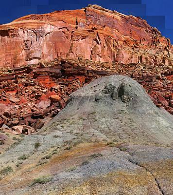 Geology Triptych - One Art Print