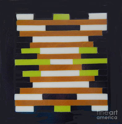 Glass Art - Geometric Abstract by Patricia  Tierney