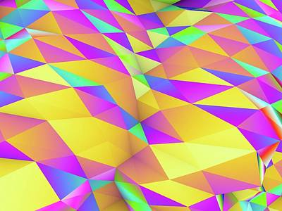 Geometric Abstract Polygonal Background Art Print