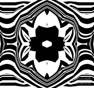 Geometric Abstraction Black White Ornament No.223. Original