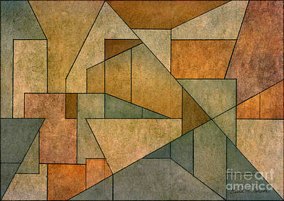 Gordin Digital Art - Geometric Abstraction Iv by David Gordon