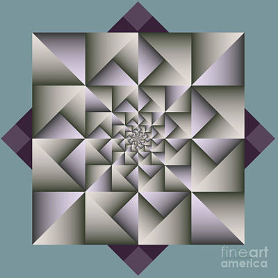 Digital Art - Geometric Abstraction by Karin Kuhlmann