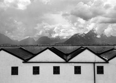Salzburg Photograph - Geometric Architecture In Black And White by Brooke T Ryan