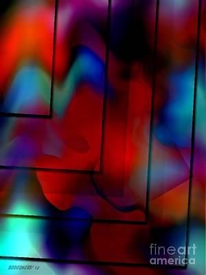 Colorful Geometric Art  Art Print by Mario Perez
