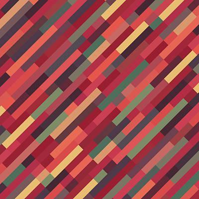 Geometric Block Art Print by Mike Taylor