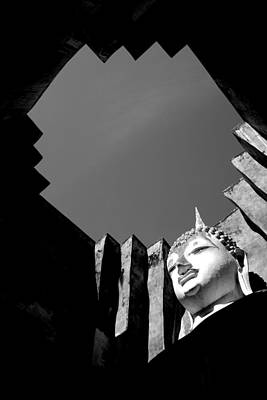 Photograph - Geometric Buddha by Lauren Rathvon