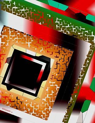 Form Digital Art - Geometric Design Of Diagonal Shape by Mario Perez