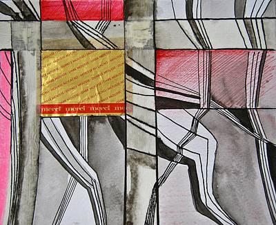 Geometric Fields Art Print by Shirley Devon