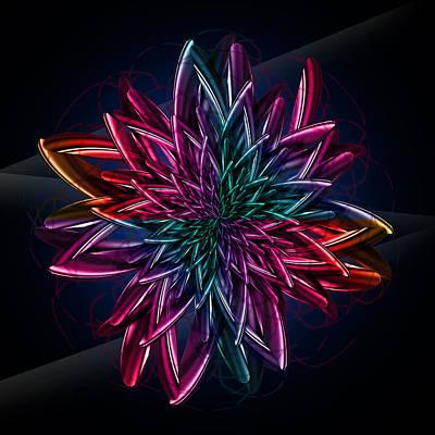Geometric Flower  Art Print by Mark Ashkenazi