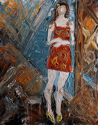 Painting - Geometric Girl by Jim Vance