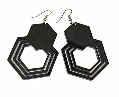 Perspex Jewelry Jewelry - Geometric Hexagon Earrings by Rony Bank