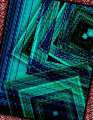 Geometric In Green Art Print by Mario Perez