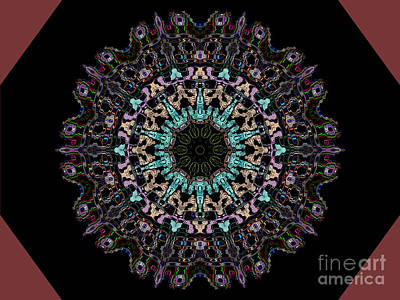 Digital Art - Geometric Kaleidoscope  by Luther Fine Art