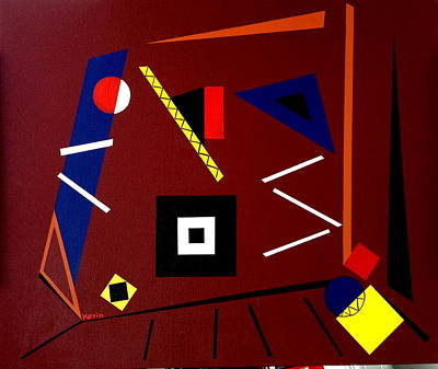Painting - Geometric by Karin Eisermann