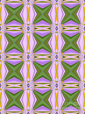 Abstruse Digital Art - Geometric Lavender Daisies by Beverly Claire Kaiya