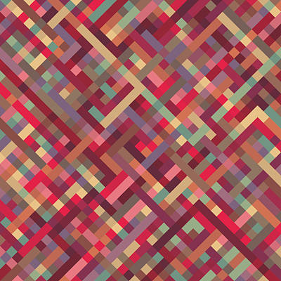 Geometric Lines Art Print by Mike Taylor