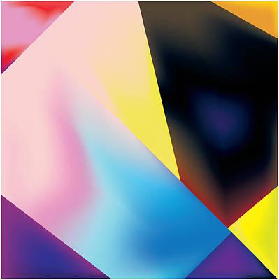 Geometric Pattern With Gradations Print by Gary Grayson