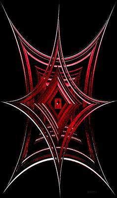 Geometric Spiderweb Art Print by Mario Perez