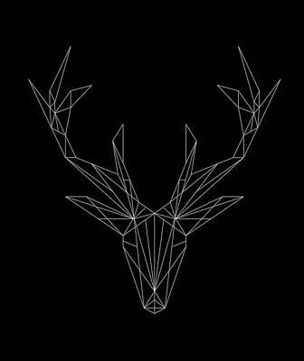 Geometric Stag Head Art Print