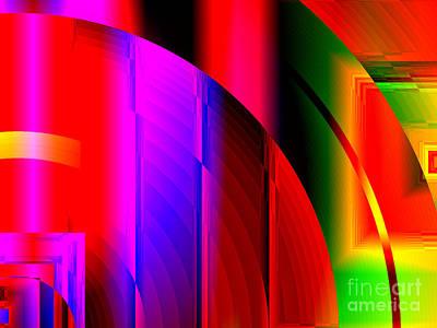 Digital Art - Geometric Sunrise by Kristi Kruse