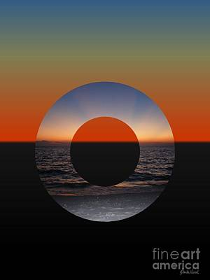 Photograph - Geometric Sunset- Circle by Darla Wood