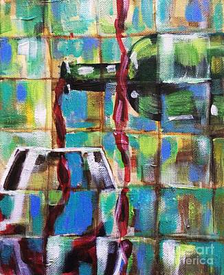 Painting - Geometric Wine 1 by Lisa Owen-Lynch