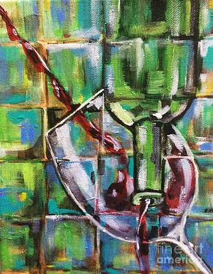 Painting - Geometric Wine 3 by Lisa Owen-Lynch