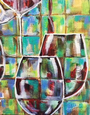 Painting - Geometric Wine 4 by Lisa Owen-Lynch