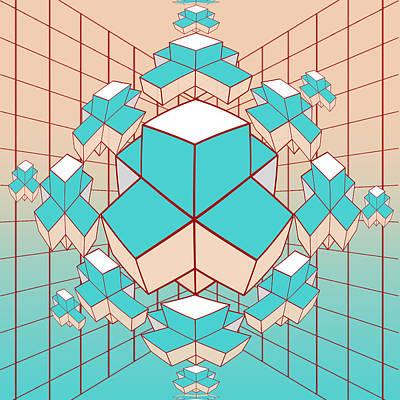 Geometric2 Art Print by Mark Ashkenazi