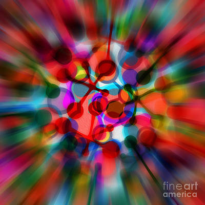 Geometrical Abstract Zoom By Kaye Menner Art Print