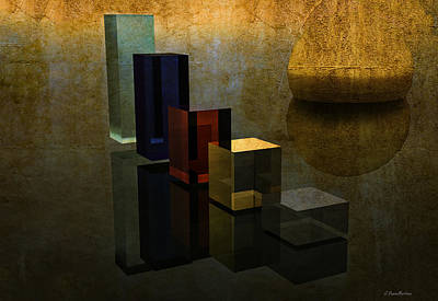 Geometries And Reflections Print by Ramon Martinez