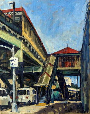 Central Indian Art Painting - Geometry 215th Street Station by Thor Wickstrom