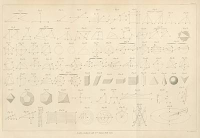 1860s Photograph - Geometry Diagrams by King's College London