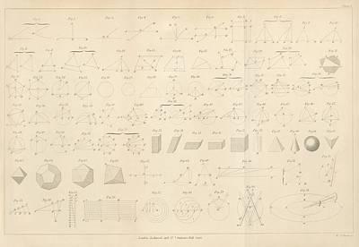 Geometry Diagrams Art Print