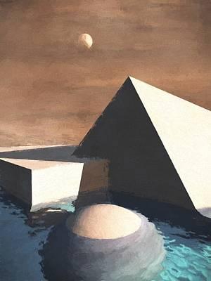 Geometrical Mixed Media - Geometry Pool by Richard Rizzo