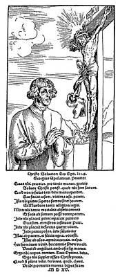 Crucifix Painting - Georg Burckhardt (1484-1545) by Granger