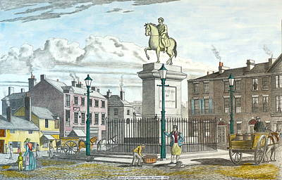 Drawing - George 111 Statue Liverpool by William Goldsmith