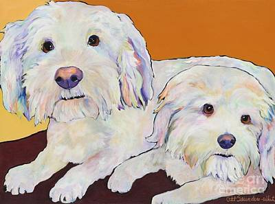 George And Henry Art Print by Pat Saunders-White