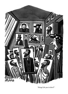 Drawing - George! Are You In There? by Peter Arno