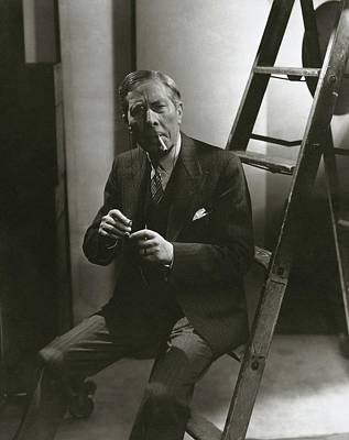 Photograph - George Arliss Sitting On A Ladder by Lusha Nelson