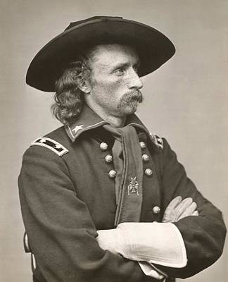 Cameo Photograph - George Armstrong Custer by American School