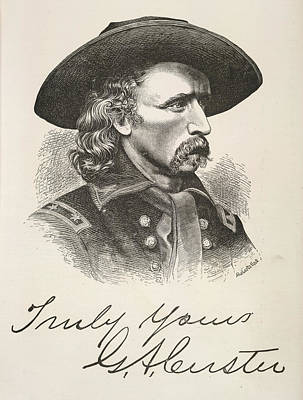 George Armstrong Custer Art Print by British Library