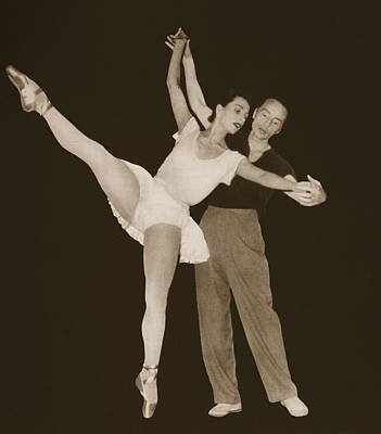 Forties Painting - George Balanchine With Tamara by French Photographer