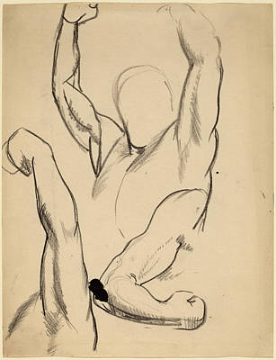 Boxer Drawing - George Bellows, Arms Of A Boxer, American by Quint Lox