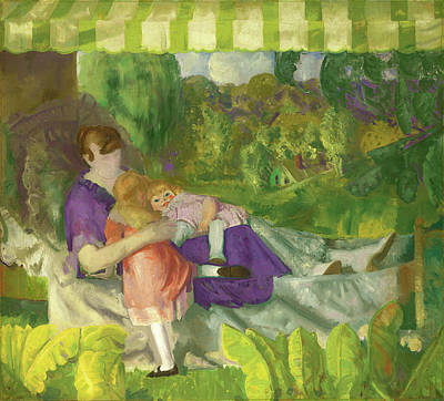 Chaise Longue Painting - George Bellows, My Family, American, 1882 - 1925 by Quint Lox
