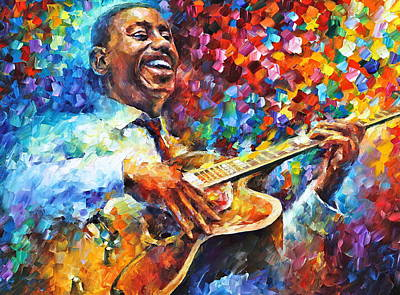 African-american Painting - Wes Montgomery by Leonid Afremov