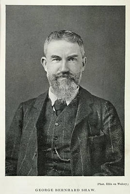 Portaits Photograph - George Bernard Shaw by British Library