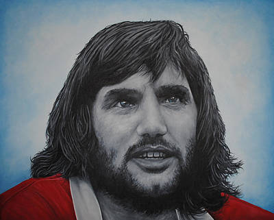 Pele Painting - George Best 'belfast Boy' by David Dunne
