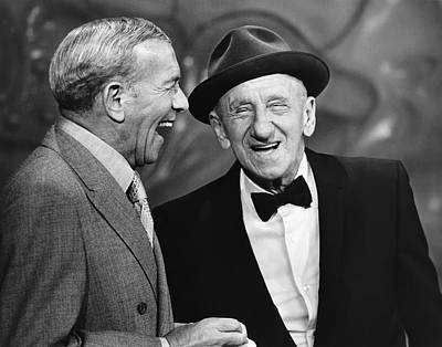 The Two Sisters Photograph - George Burns And Jimmy Durante by Underwood Archives
