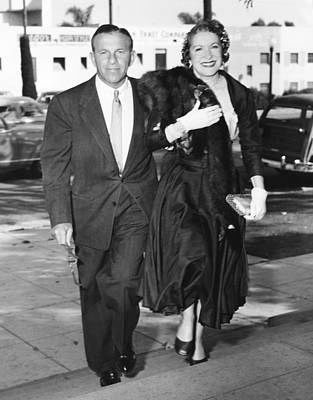 1950s Fashion Photograph - George Burns, Left, And Gracie Allen by Everett